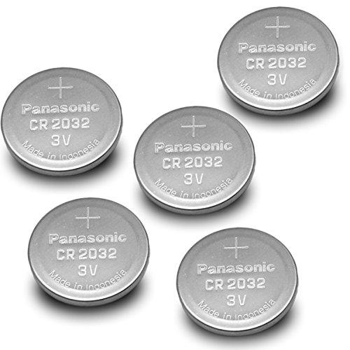 Panasonic CR2032-5PK CR2032 3V Lithium Coin Battery (Pack of 5) Panasonic Cr2032 3v Batterie