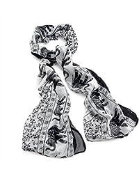 Central Chic Echarpe Chale Pareo Pour Femmes Motif Elephant Voile Mode Femme Automne Hiver 176x93cm