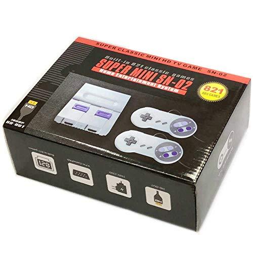Rora TV Spielekonsolen Retro Classic Mini, Spielkonsole Built-in Klassische Spiele, HDMI TV Output mit Zwei Joystick Controller, 8bit Entertainment System (821)