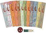 Auroshikha Ajanta 12 Varieties Of Incense Sticks with an Incense Holder (150 gm pack)
