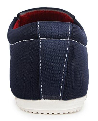 glissement occasionnel des hommes sur toile partie de porter des chaussures formelles conduite pantoufle chaussures Bleu
