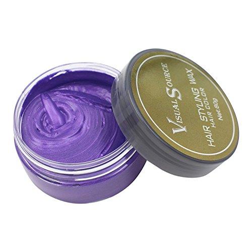 chbar Temporäre Bunt Haarfärbemittel Wachs Haar Modellierung Farbe Schlamm DIY Haar Creme (Lila) (Temporäre Lila Haare Farbe)