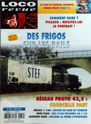 LOCO REVUE [No 669] du 01/04/2003 - LE PLAN DU MONDIAL MAQUETTE MODELE REDUIT ÔÇô COMMENT FAIRE ? - PICASSO - REFAITES-LUI LE PORTRAIT ! ÔÇô DES FRIGOS SUR LES RAILS ÔÇô RESEAU PROTO 43,5 - COURCELLE PART ÔÇô RESEAU 1 - 160 - RETOUR EN GARE DE VONECHE ÔÇô GROS PLAN - 2D2 9100 FULGUREX AU 1 - 32 ÔÇô COMMENT FAIRE - DECORER LA PIERRE SYNTHETIQUE.