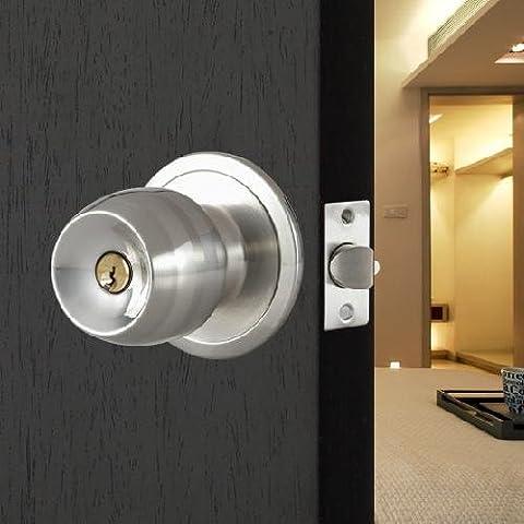 TOOGOO(R) Stainless Steel Round Door Knobs Handle