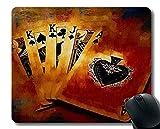 Naturkautschuk-Mauspad, Poker-Kunst-Mauspad genähte Bordüre