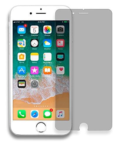 MyGadget Blickschutz Panzerglas Folie für Apple iPhone 6/7/8 - Anti Spy 9H Glasfolie [Hüllen kompatibel] - Sichtschutz Privacy Protector Schutzfolie