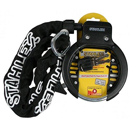Stahlex 008572 Rahmenschloss STAHLEX 470 Deluxe Fahrrad Schloss schwarz