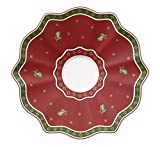 Villeroy & Boch Toy's Delight Rote Untertasse, 16,5 cm, Premium Porzellan
