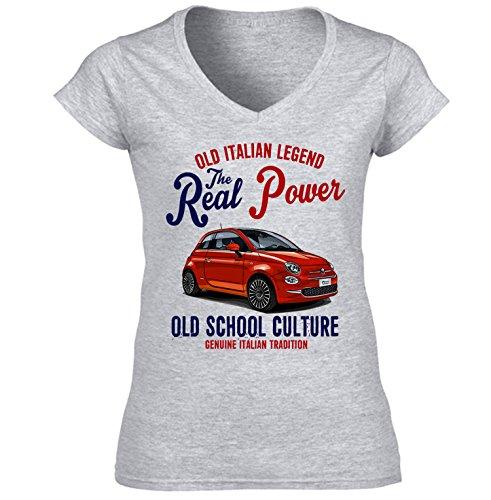Women's Fiat 500 Italian Grey T-Shirt