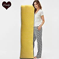 Coozly Premium Lumbar Body Pillow | Arm Curl Pillow | Back Support Pillow | Pregnancy Pillow with Cover (Reader, Full Premium)