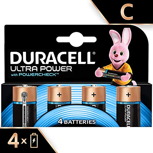 Duracell Ultra, lot de 4 piles alcalines Type C 1,5 Volts LR14 MX1400