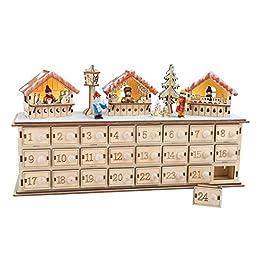 "'SSITG Calendario dell' Avvento ""Natale Basar legno bambini Natale Calendario stes"