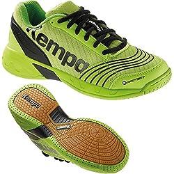 Kempa Zapatillas de balonmano Zapatillas para niños Hope verde/negro + Kempa Calcetines, color verde, tamaño 39