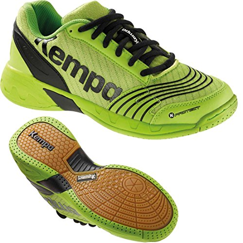 Kempa Handballschuhe Turnschuhe für Kinder hope grün/schwarz + Kempa Socken (39)