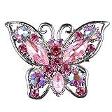 Schöne Schmetterling Form Brosche Nadel Anstecker Brooch Geschenk Schmuck - Rosa