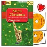 Merry Christmas, sortie pour instruments de Il (altsax, il Clarinette Sib baryton sax)–45plus 2CD pour accompagner des Chansons et cœur Note Pince coloré de Noël.