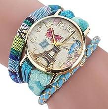Sannysis Dreamcatcher Amistad Pulsera Relojes vestido de mujeres de reloj