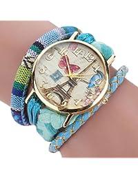 Sannysis Dreamcatcher Amistad Pulsera Relojes vestido de mujeres de reloj (Cielo Azul)