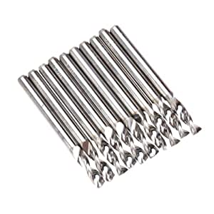 SODIAL (R)10pcs carbure Fraise PCB Mill End 3.2 mm
