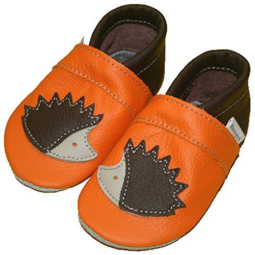 Housse en cuir souple pour bébé hérisson orange Orange - Orange