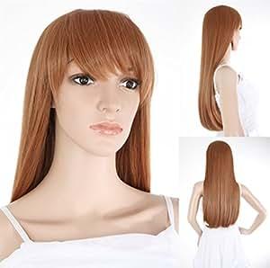 Ladieshair Perücke professionell ca. 80cm lang als Haarersatz Zweithaar bei Haarausfall oder nach einer Chemo oder auch für Fotoshootings oder Karneval - HM-HMG0394 Versand aus Deutschland bei Verkäufer Ladieshair.de