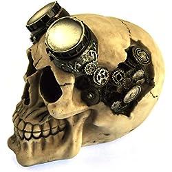Nemesis - Figura de cráneo con gafas, 15cm