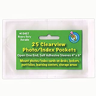 Ashley Productions ASH10407 Clear View Self-Adhesive 25-Pk- Pockets Photo-Index Card 4 X 6