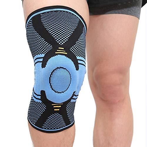 Kniebandage Einzelne Knieschoner Einstellbarer Stabilisator Unterstützung für akute Verstauchungen Bandschäden Helfen Sie bei der Genesung,L
