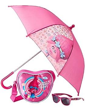 FABTASTICS 3er Set Herztasche, Regenschirm, Sonnenbrille, Mehrfarbig