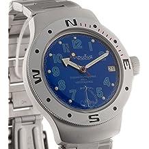 Vostok Amphibian 060382Ruso Militar reloj 2416b 200m auto azul marino