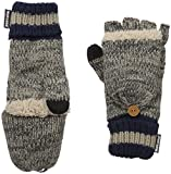 Muk Luks Men's Sock Flip Mitten-Dark Grey