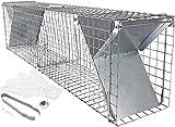 Satis, trappola per martore di grandi dimensioni, con tanti accessori, 100cm, veloce e facile cattura, resistente alle intemperie, robusta, con 2ingressi, per catturare vivi martore, gatti, conigli