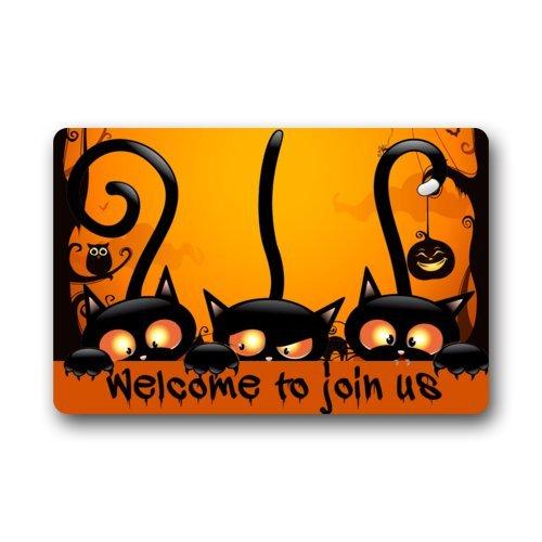 �matte mit Aufschrift Welcome to Join us, Halloween-Party, lustige Halloween-Fußmatte, strapazierfähig, maschinenwaschbar, für Innen- und Außenbereich ()