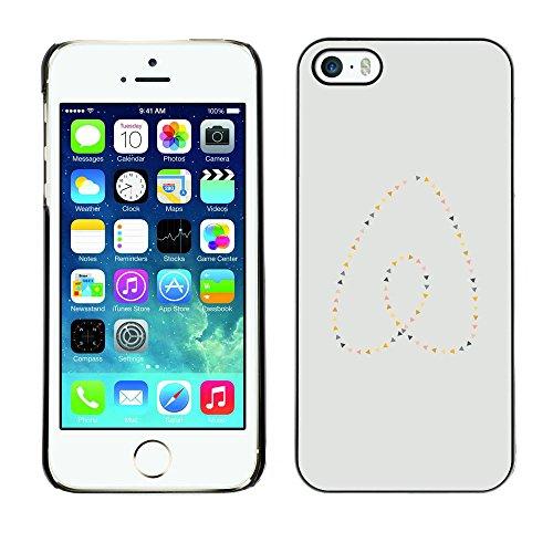 GooooStore/Dura Custodia Rigida della copertura della cassa - Heart Pearls Gold Blue Minimalist - Apple iPhone 5 / 5S - Blue Pearl Gt