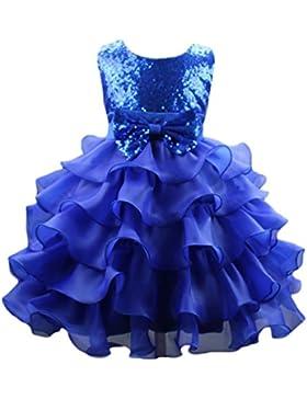 NiSeng Bambini Bowknot Del Paillettes Principessa Vestito Multistrato Garza Vestito Cerimonia Compleanno Partito...