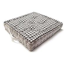 Cojín de suelo de algodón VICHY gris