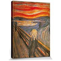 1art1® Edvard Munch - El Grito, 1893 Cuadro, Lienzo Montado Sobre Bastidor (40 x 30cm)