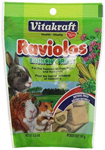 Vitakraft raviolos Crunchy Leckerlis für Haustier Kaninchen, Meerschweinchen und Hamster, 5Unze Pouch