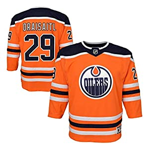 NHL Outerstuff Leon Draisaitl #29 Edmonton Oilers Premier Youth Trikot Home Orange (Kinder)