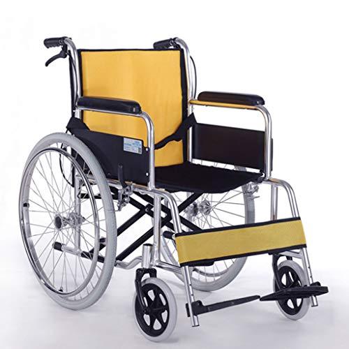 L-Life Rollstühle, Abnehmbar, Schwammkissen, Verstellbare Pedale, Leichter Aluminium-Klapprollstuhl, Für Ältere Senioren
