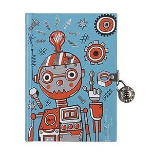 Mudpuppy - Diario con llave, diseño robots (MPDI34229)