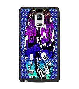 PrintDhaba Graffiti D-3950 Back Case Cover for SAMSUNG GALAXY NOTE EDGE (Multi-Coloured)