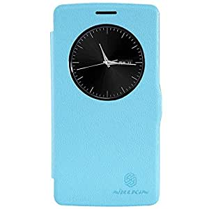Coversncases Nillkin Fresh Series Leather Flip Stand Bumper Back Case Cover With Smart Auto Wake Up Sleep Function ForLG G3 Mini Beat Vigor D722 D725 - Power Blue