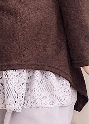 Meyison Mode Damen Strickkleider Kleidung Damenbekleidung Oberteile Coffee