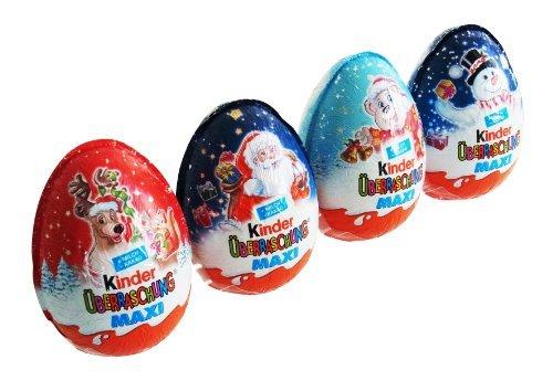 Kinder Überraschung Maxi Weihnachten, 4er Pack (4 x (Ei Kostüme)