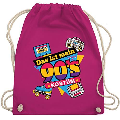 Karneval & Fasching - Das ist mein 90er Jahre Kostüm - Unisize - Fuchsia - WM110 - Turnbeutel & Gym Bag (Gruppe Thema Kostüm Ideen)