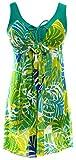 Sawadikaa Donne Modello un Pezzo Costume Monokinis Costumi da Bagno Costumi interi Annata Coprire Verde Banana 36-38