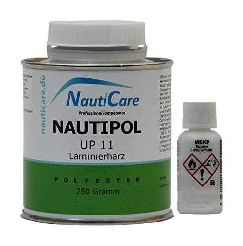 NautiCare NautiPol UP 11 Laminierharz-Set 270 g - Styrolfreies Polyesterharz - Polyester Harz und MEKP Härter -