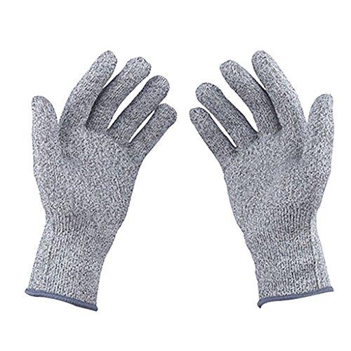 Almencla Schnittschutzhandschuhe Schnittfeste Handschuhe Arbeitshandschuhe Für Küche - S