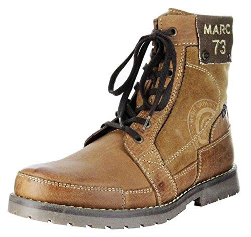 Marc Stiefeletten cognac braun Leder Stiefel Herren Schuhe Lennon 1-210-07-12, Größe:44, (Kumpel Schwarz Stiefel Herren)